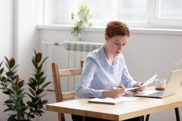 Women preparing questions