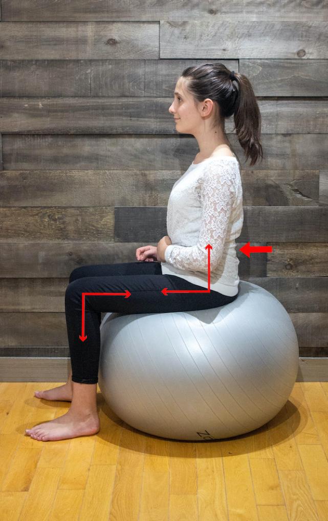 posture on ball