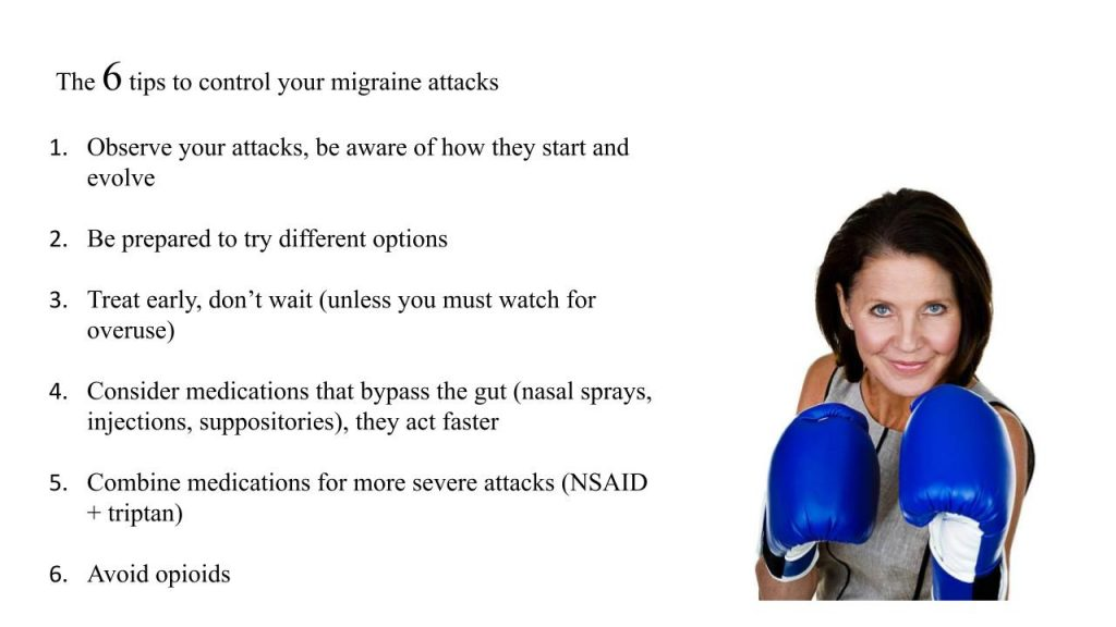 The 6 tips to control your migraine attacks